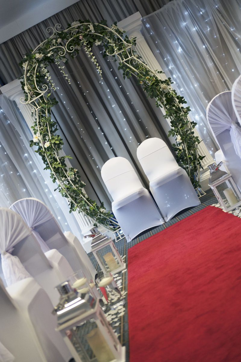 Wedding room arch